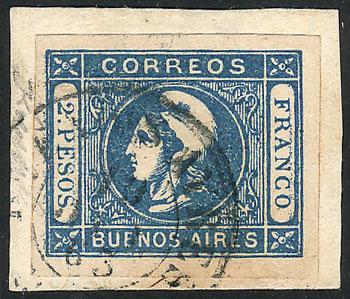 Lot 10 - Argentina cabecitas -  Guillermo Jalil - Philatino Auction # 2037 ARGENTINA: Special September auction