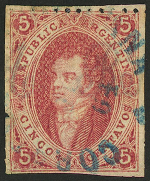 Lot 65 - Argentina rivadavias -  Guillermo Jalil - Philatino Auction # 2037 ARGENTINA: Special September auction