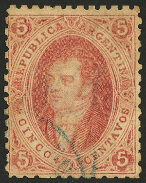 Lot 78 - Argentina rivadavias -  Guillermo Jalil - Philatino Auction # 2037 ARGENTINA: Special September auction