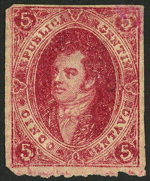 Lot 107 - Argentina rivadavias -  Guillermo Jalil - Philatino Auction # 2037 ARGENTINA: Special September auction