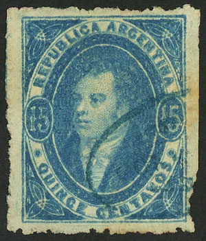 Lot 97 - Argentina rivadavias -  Guillermo Jalil - Philatino Auction # 2037 ARGENTINA: Special September auction
