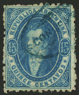 Lot 93 - Argentina rivadavias -  Guillermo Jalil - Philatino Auction # 2037 ARGENTINA: Special September auction