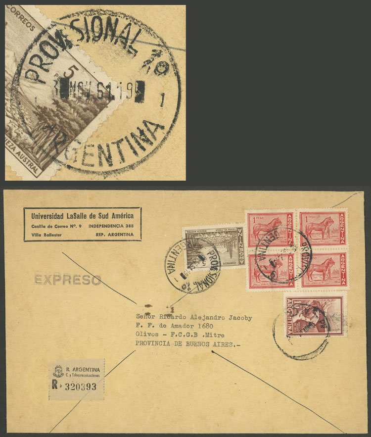 Lot 282 - Argentina postal history -  Guillermo Jalil - Philatino Auction # 2037 ARGENTINA: Special September auction