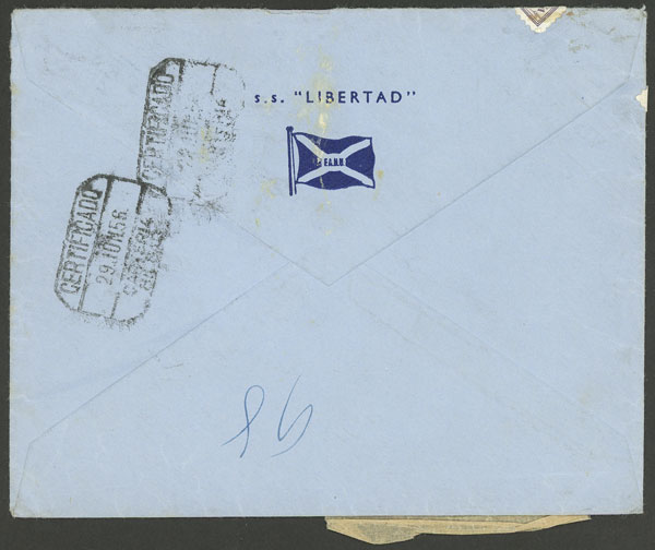 Lot 281 - Argentina postal history -  Guillermo Jalil - Philatino Auction # 2037 ARGENTINA: Special September auction