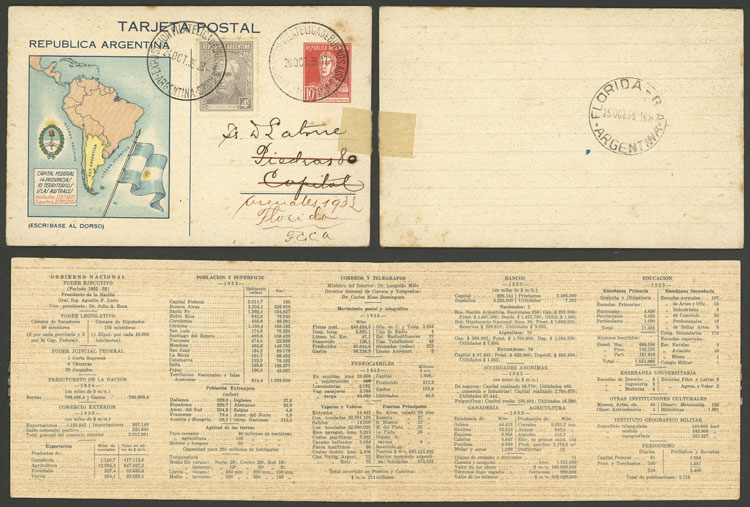 Lot 270 - Argentina postal stationeries -  Guillermo Jalil - Philatino Auction # 2037 ARGENTINA: Special September auction