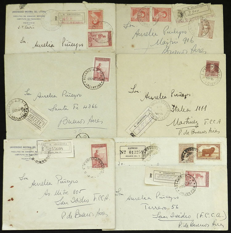 Lot 279 - Argentina postal history -  Guillermo Jalil - Philatino Auction # 2037 ARGENTINA: Special September auction