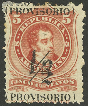 Lot 135 - Argentina general issues -  Guillermo Jalil - Philatino Auction # 2037 ARGENTINA: Special September auction