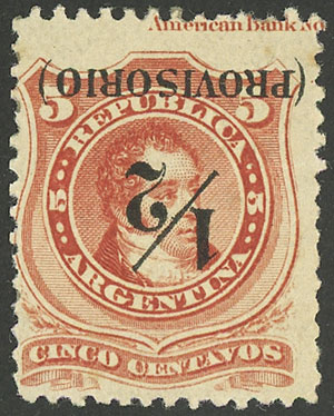Lot 134 - Argentina general issues -  Guillermo Jalil - Philatino Auction # 2037 ARGENTINA: Special September auction