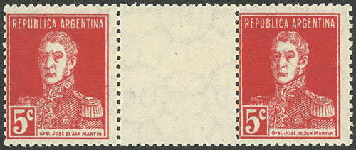 Lot 177 - Argentina general issues -  Guillermo Jalil - Philatino Auction # 2037 ARGENTINA: Special September auction