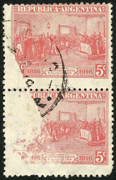 Lot 162 - Argentina general issues -  Guillermo Jalil - Philatino Auction # 2037 ARGENTINA: Special September auction