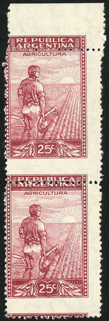 Lot 185 - Argentina general issues -  Guillermo Jalil - Philatino Auction # 2037 ARGENTINA: Special September auction