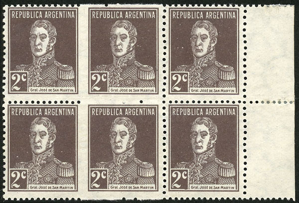 Lot 176 - Argentina general issues -  Guillermo Jalil - Philatino Auction # 2037 ARGENTINA: Special September auction