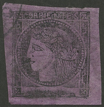 Lot 26 - Argentina corrientes -  Guillermo Jalil - Philatino Auction # 2037 ARGENTINA: Special September auction