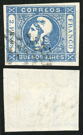 Lot 11 - Argentina cabecitas -  Guillermo Jalil - Philatino Auction # 2037 ARGENTINA: Special September auction