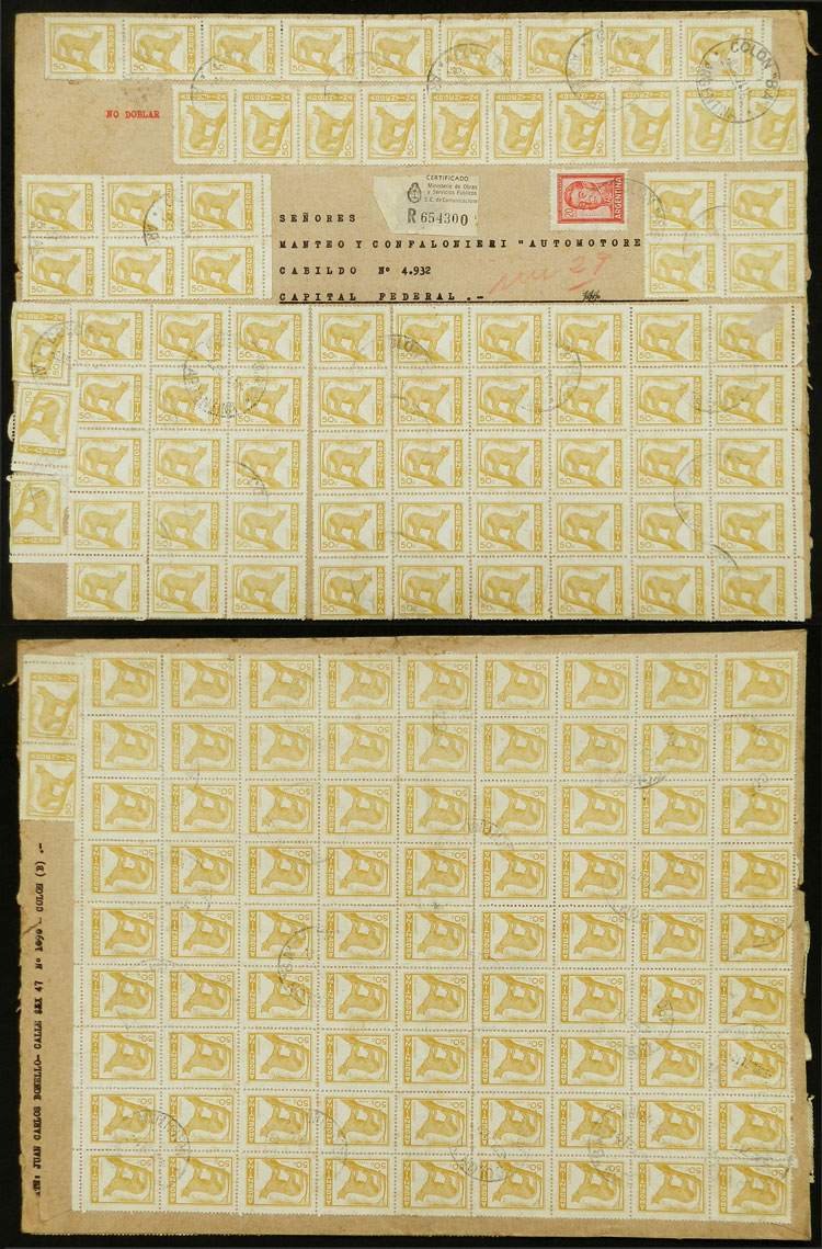 Lot 283 - Argentina postal history -  Guillermo Jalil - Philatino Auction # 2037 ARGENTINA: Special September auction