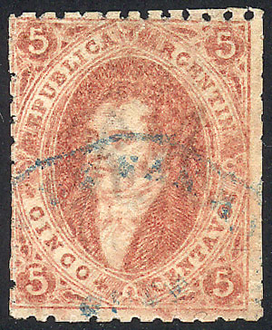 Lot 73 - Argentina rivadavias -  Guillermo Jalil - Philatino Auction # 2037 ARGENTINA: Special September auction