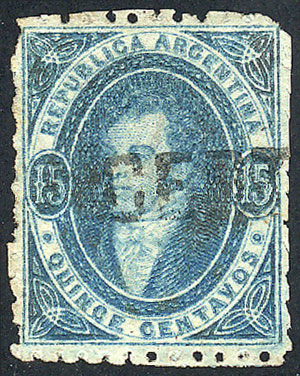 Lot 96 - Argentina rivadavias -  Guillermo Jalil - Philatino Auction # 2037 ARGENTINA: Special September auction