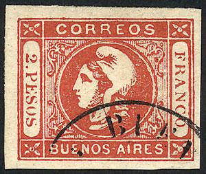 Lot 5 - Argentina cabecitas -  Guillermo Jalil - Philatino Auction # 2037 ARGENTINA: Special September auction