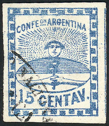 Lot 31 - Argentina confederation -  Guillermo Jalil - Philatino Auction # 2037 ARGENTINA: Special September auction