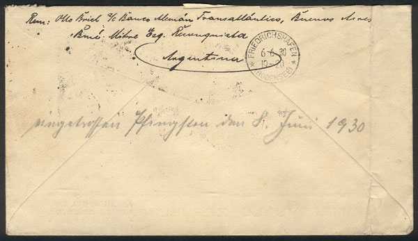 Lot 278 - Argentina postal history -  Guillermo Jalil - Philatino Auction # 2037 ARGENTINA: Special September auction