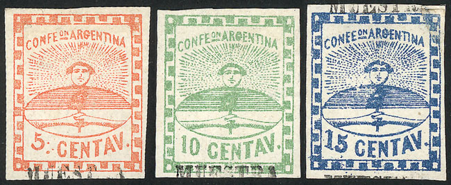 Lot 27 - Argentina confederation -  Guillermo Jalil - Philatino Auction # 2037 ARGENTINA: Special September auction