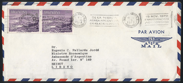 Lot 284 - Argentina postal history -  Guillermo Jalil - Philatino Auction # 2037 ARGENTINA: Special September auction