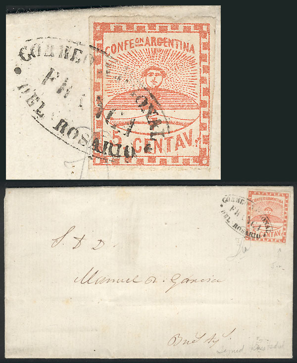 Lot 29 - Argentina confederation -  Guillermo Jalil - Philatino Auction # 2037 ARGENTINA: Special September auction