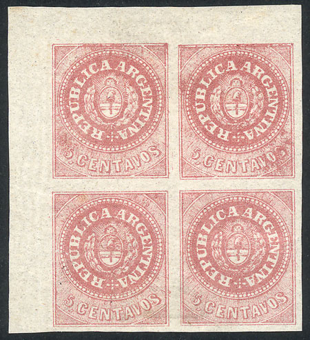 Lot 35 - Argentina escuditos -  Guillermo Jalil - Philatino Auction # 2037 ARGENTINA: Special September auction