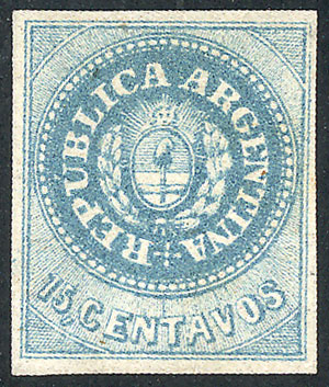 Lot 40 - Argentina escuditos -  Guillermo Jalil - Philatino Auction # 2037 ARGENTINA: Special September auction