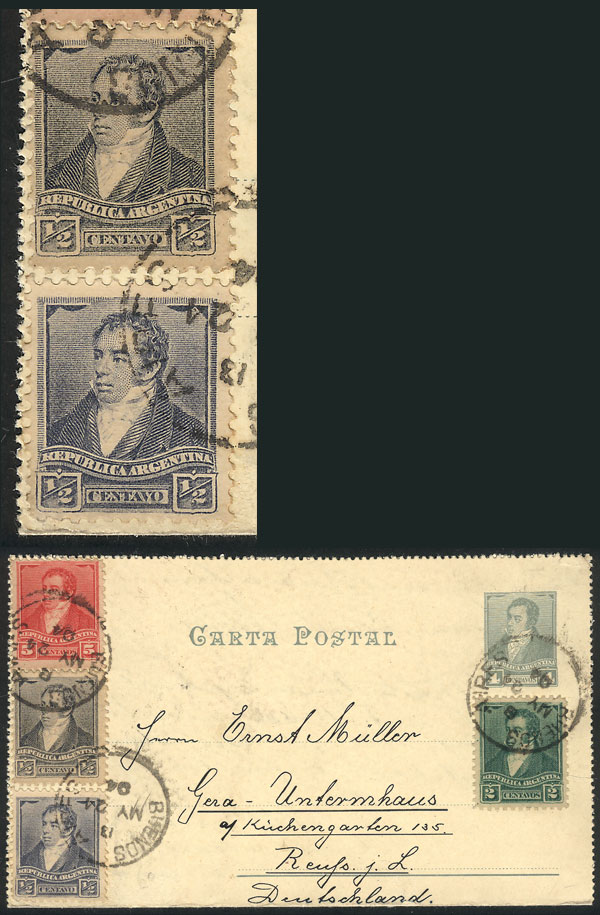 Lot 276 - Argentina postal history -  Guillermo Jalil - Philatino Auction # 2037 ARGENTINA: Special September auction