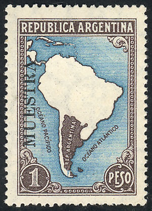 Lot 186 - Argentina general issues -  Guillermo Jalil - Philatino Auction # 2037 ARGENTINA: Special September auction
