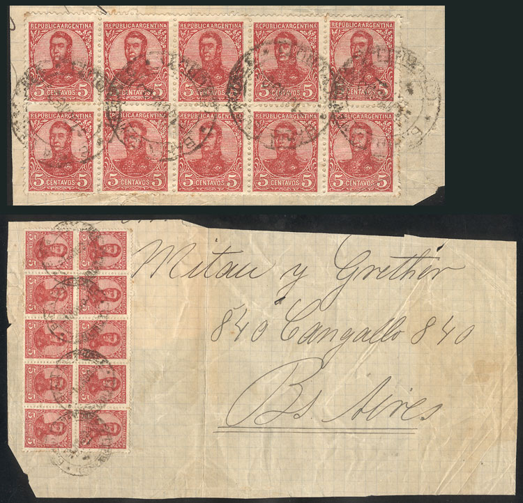 Lot 277 - Argentina postal history -  Guillermo Jalil - Philatino Auction # 2037 ARGENTINA: Special September auction