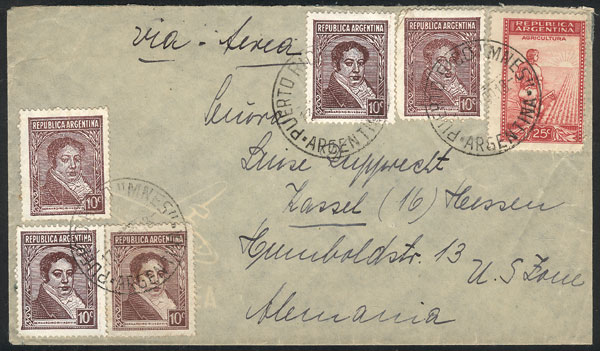 Lot 280 - Argentina postal history -  Guillermo Jalil - Philatino Auction # 2037 ARGENTINA: Special September auction
