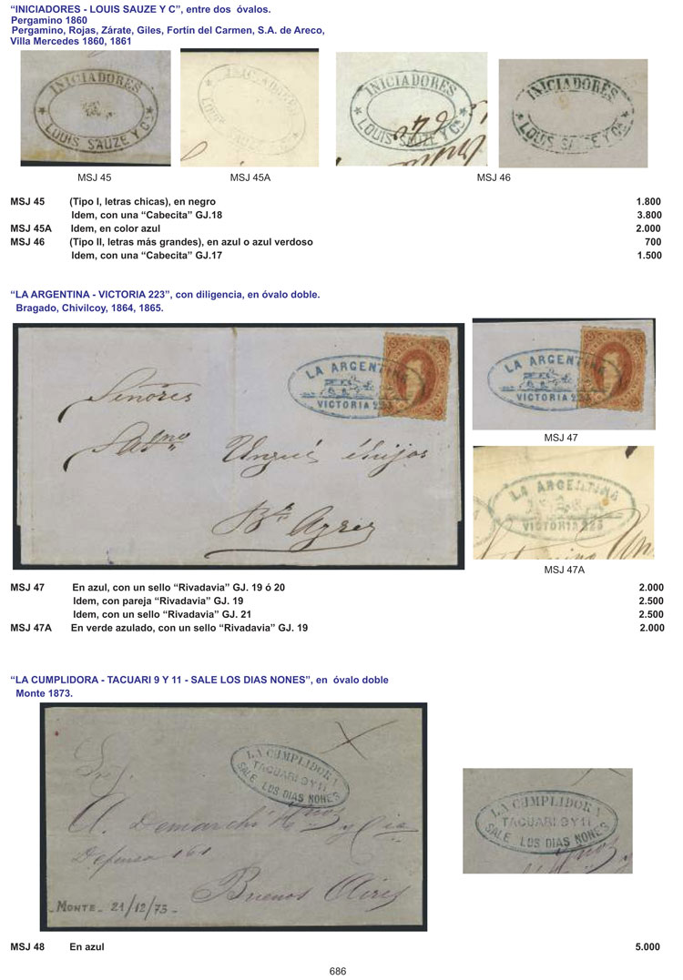 Lot 1 - Argentina books -  Guillermo Jalil - Philatino Auction # 2038 ARGENTINA: General auction with very low starts!