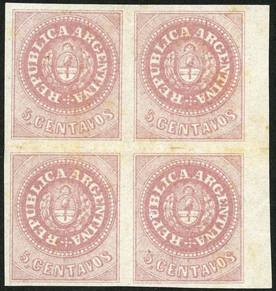 Lot 24 - Argentina escuditos -  Guillermo Jalil - Philatino Auction # 2038 ARGENTINA: General auction with very low starts!