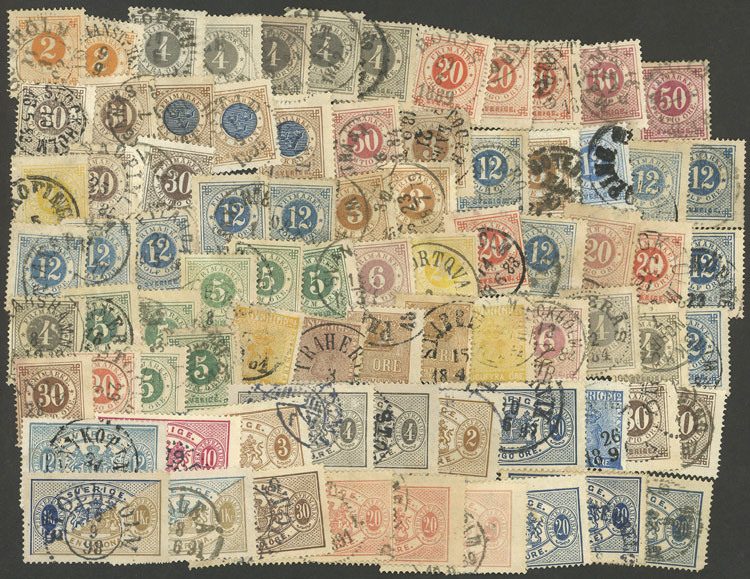 Lot 1265 - Sweden Lots and Collections -  Guillermo Jalil - Philatino Auction # 2039 WORLDWIDE + ARGENTINA: General September auction