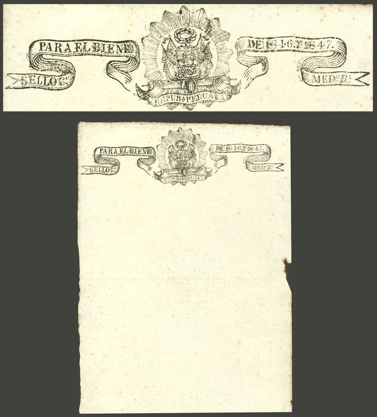 Lot 1192 - Peru revenue stamps -  Guillermo Jalil - Philatino Auction # 2039 WORLDWIDE + ARGENTINA: General September auction