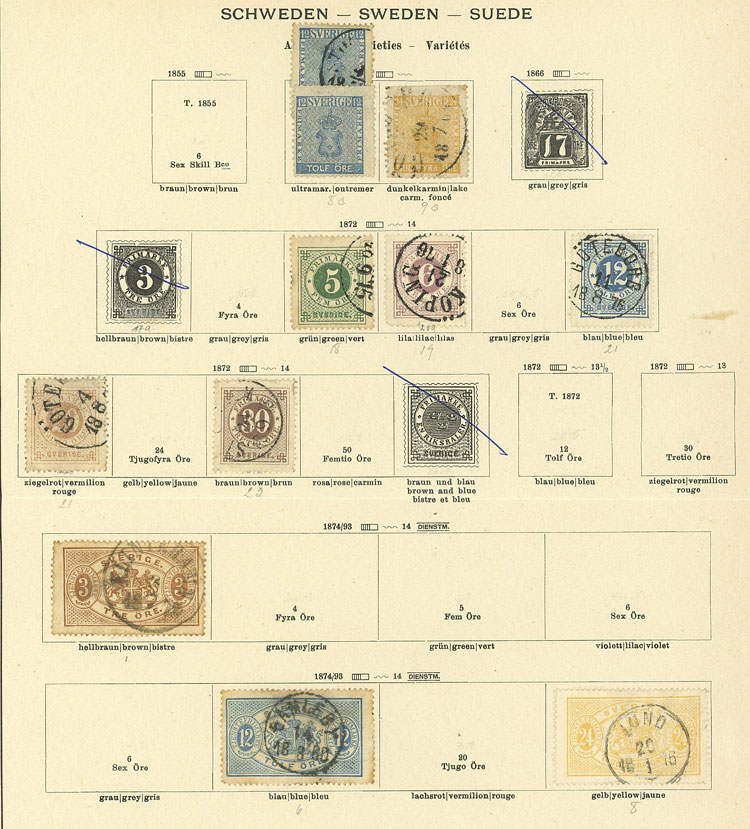 Lot 1261 - Sweden Lots and Collections -  Guillermo Jalil - Philatino Auction # 2039 WORLDWIDE + ARGENTINA: General September auction