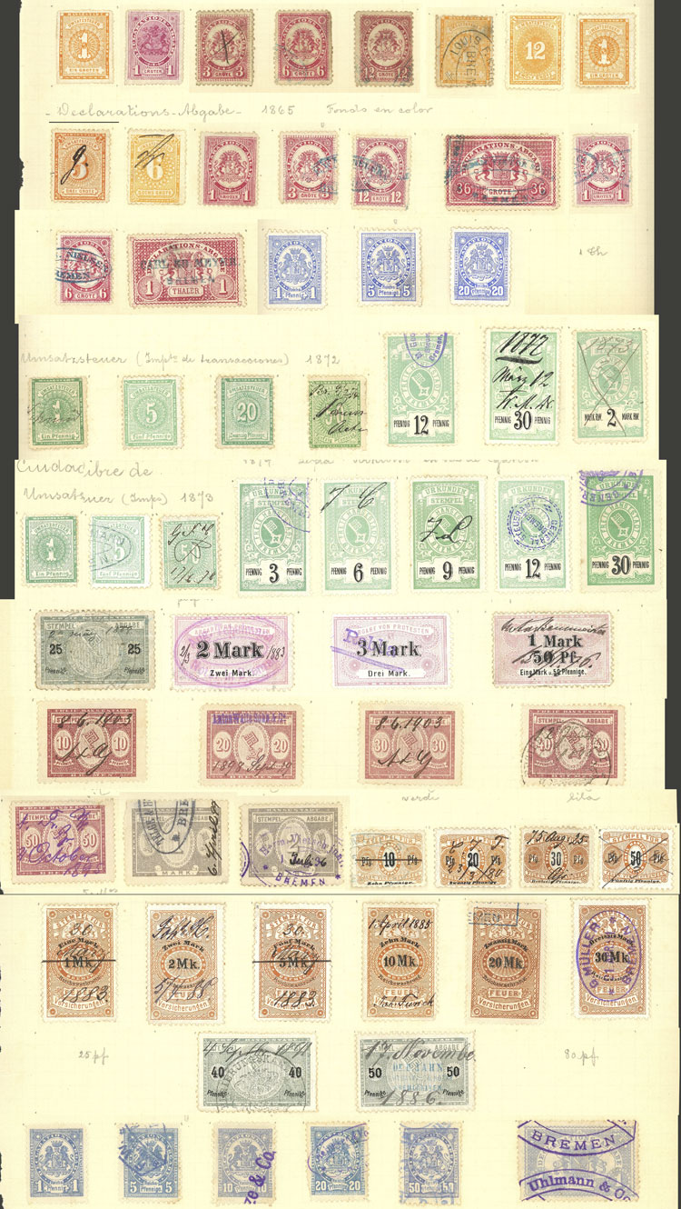 Lot 116 - germany revenue stamps -  Guillermo Jalil - Philatino Auction # 2039 WORLDWIDE + ARGENTINA: General September auction