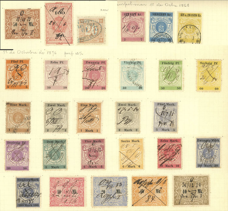 Lot 118 - germany revenue stamps -  Guillermo Jalil - Philatino Auction # 2039 WORLDWIDE + ARGENTINA: General September auction