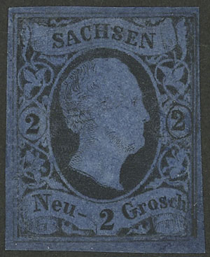 Lot 20 - germany sachsen -  Guillermo Jalil - Philatino Auction # 2039 WORLDWIDE + ARGENTINA: General September auction