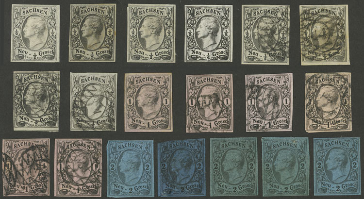 Lot 21 - germany sachsen -  Guillermo Jalil - Philatino Auction # 2039 WORLDWIDE + ARGENTINA: General September auction