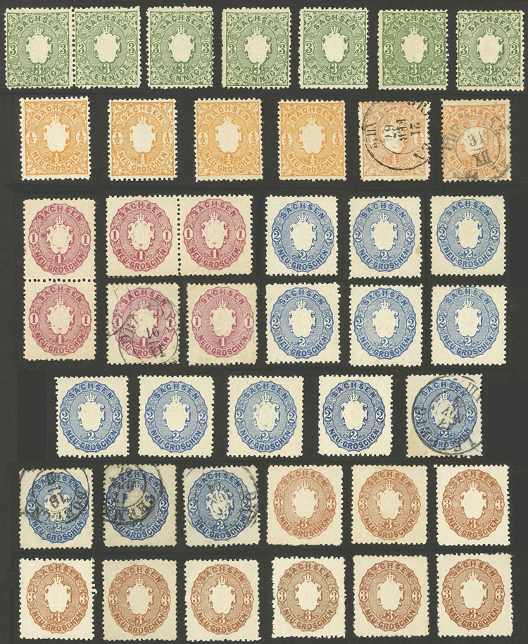 Lot 23 - germany sachsen -  Guillermo Jalil - Philatino Auction # 2039 WORLDWIDE + ARGENTINA: General September auction