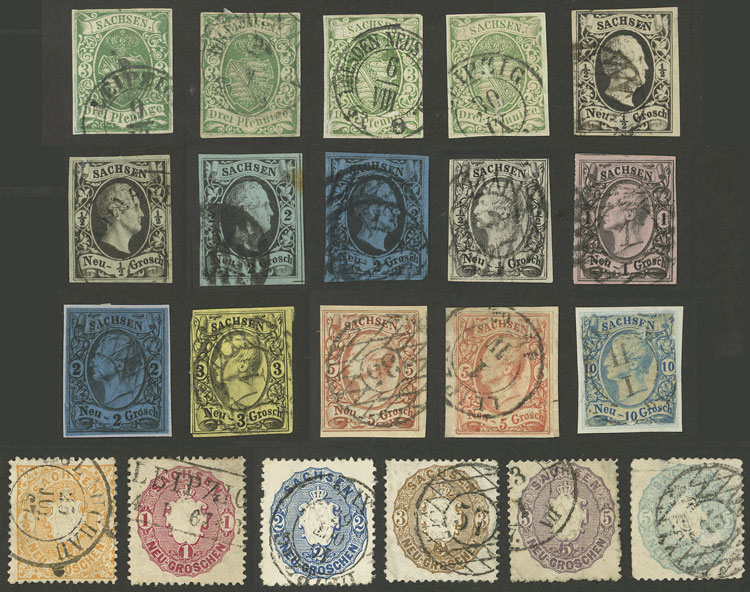 Lot 25 - germany sachsen -  Guillermo Jalil - Philatino Auction # 2039 WORLDWIDE + ARGENTINA: General September auction