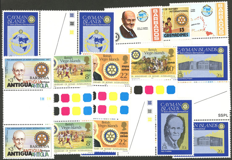 Lot 9 - topic rotary Lots and Collections -  Guillermo Jalil - Philatino Auction # 2039 WORLDWIDE + ARGENTINA: General September auction