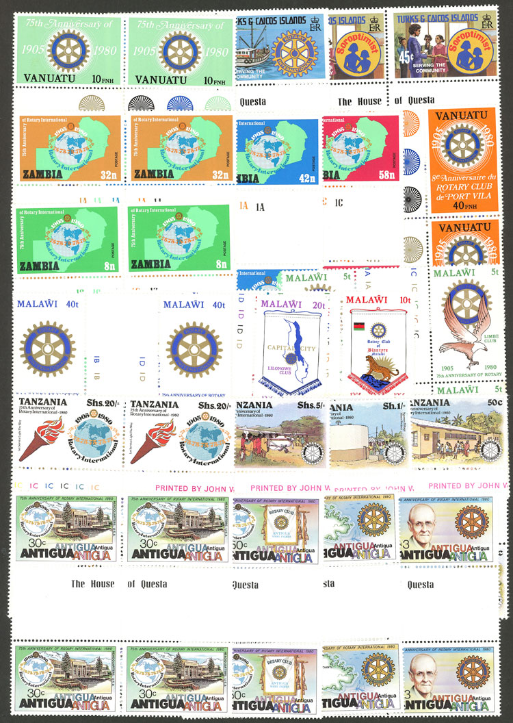Lot 8 - topic rotary Lots and Collections -  Guillermo Jalil - Philatino Auction # 2039 WORLDWIDE + ARGENTINA: General September auction