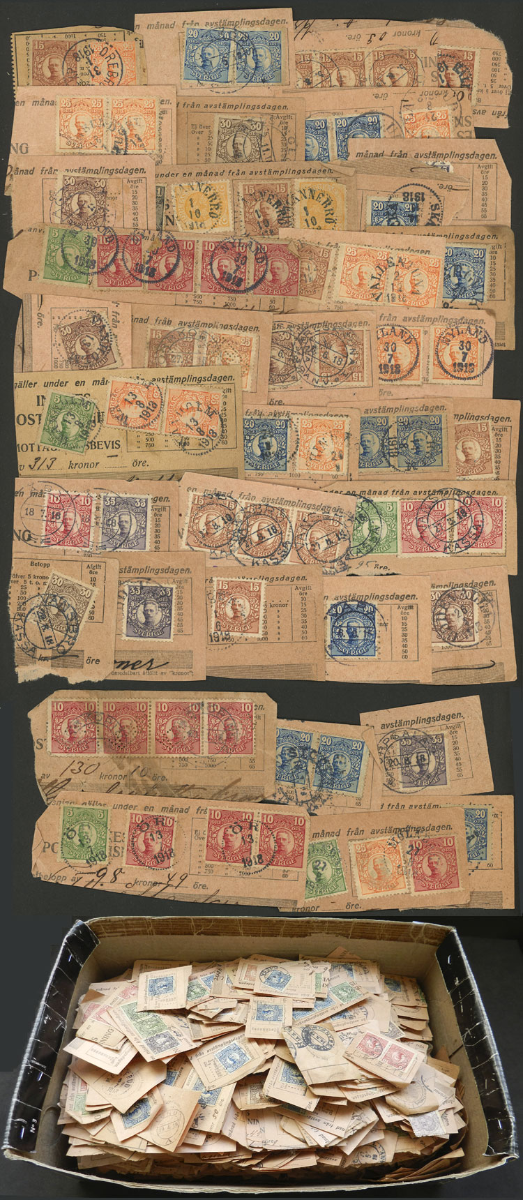 Lot 1268 - Sweden Lots and Collections -  Guillermo Jalil - Philatino Auction # 2039 WORLDWIDE + ARGENTINA: General September auction