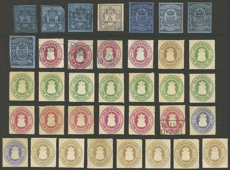 Lot 16 - germany oldenburg -  Guillermo Jalil - Philatino Auction # 2039 WORLDWIDE + ARGENTINA: General September auction