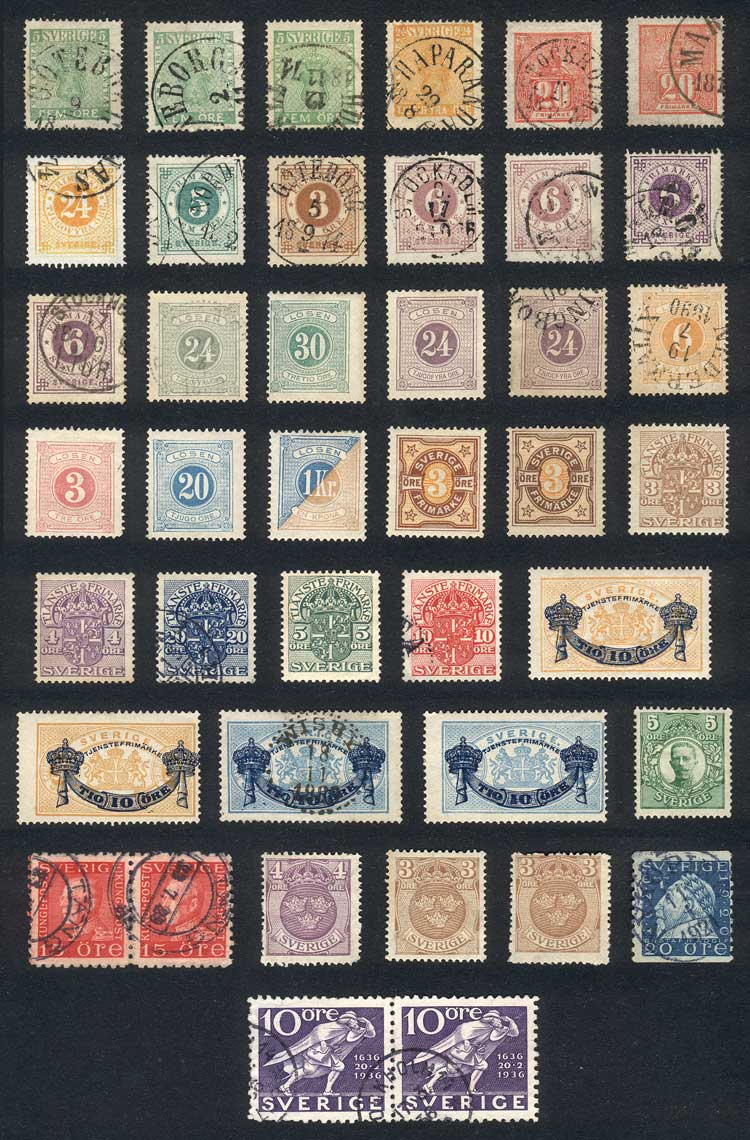 Lot 1264 - Sweden Lots and Collections -  Guillermo Jalil - Philatino Auction # 2039 WORLDWIDE + ARGENTINA: General September auction