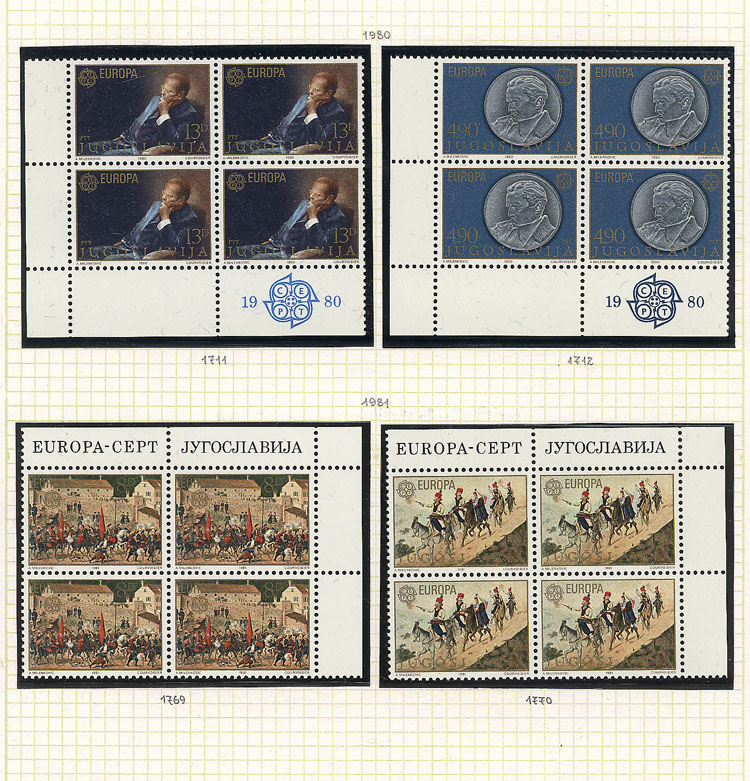 Lot 4 - topic europa Lots and Collections -  Guillermo Jalil - Philatino Auction # 2039 WORLDWIDE + ARGENTINA: General September auction